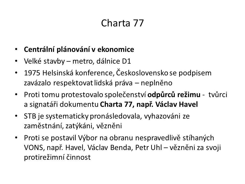 Charta 77 Centrální plánování v ekonomice