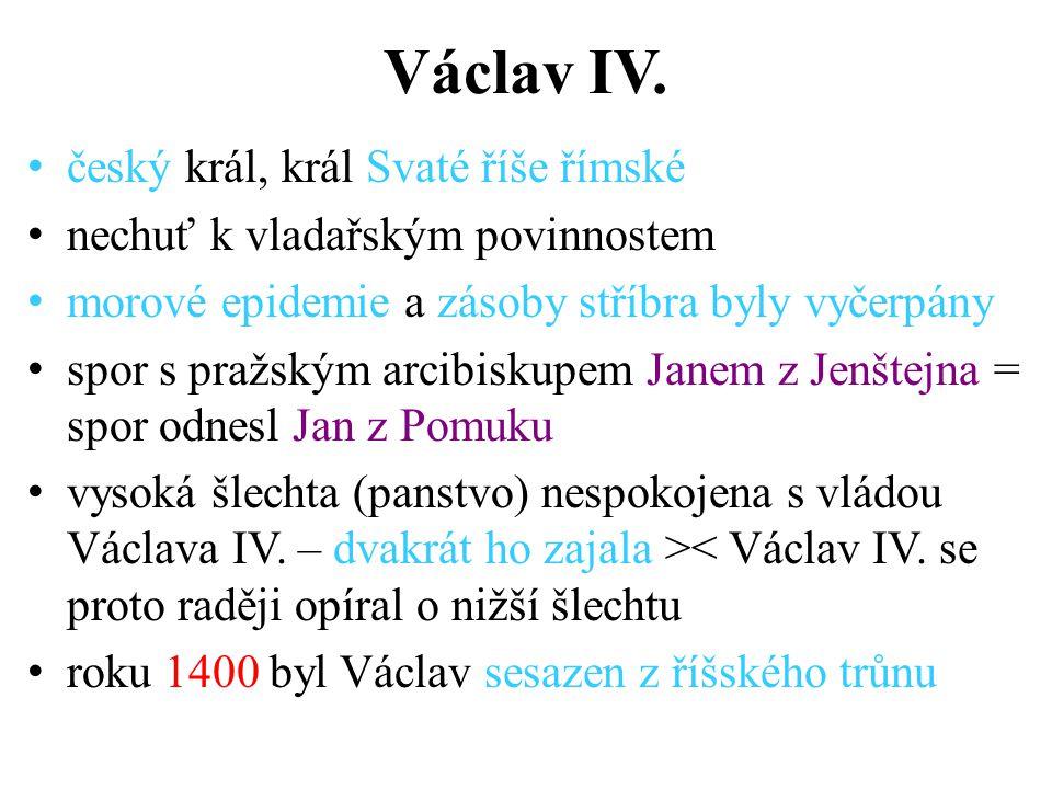 Václav IV. český král, král Svaté říše římské
