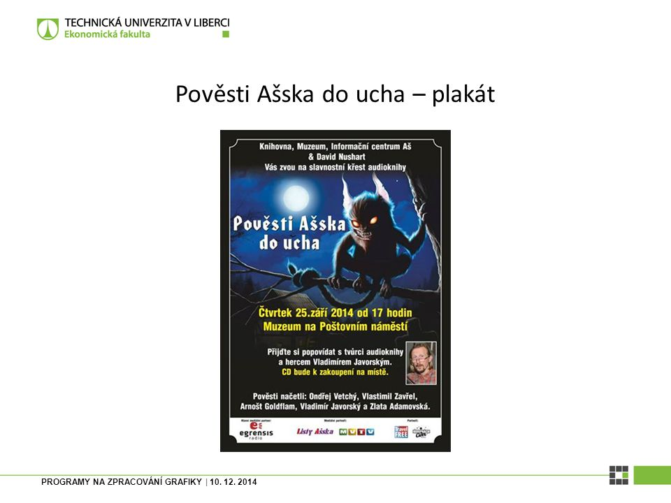 Pověsti Ašska do ucha – plakát