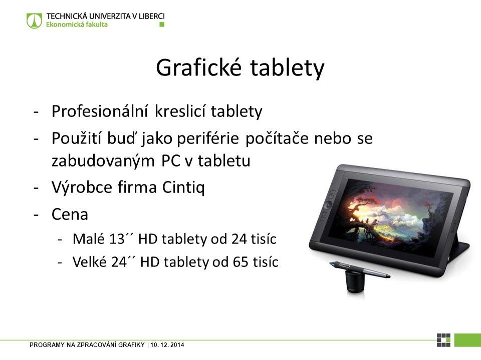 Grafické tablety Profesionální kreslicí tablety