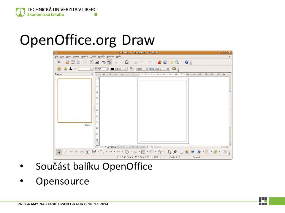 OpenOffice.org Draw Součást balíku OpenOffice Opensource