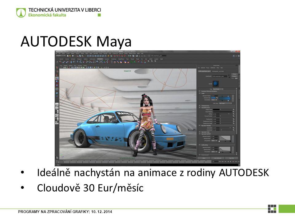 AUTODESK Maya Ideálně nachystán na animace z rodiny AUTODESK
