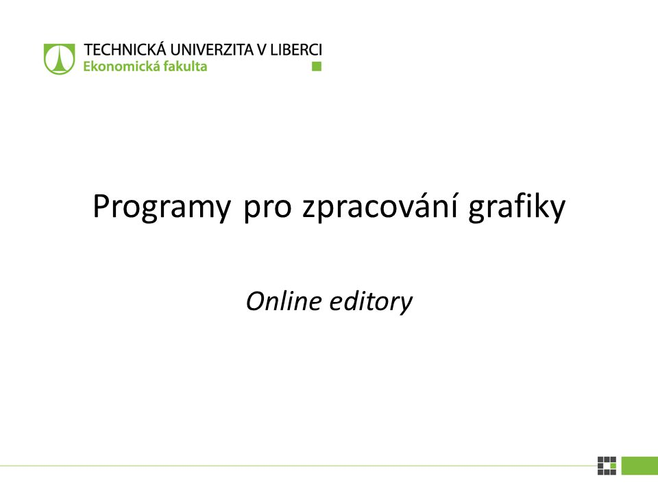 Programy pro zpracování grafiky