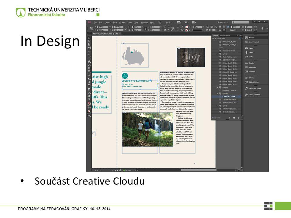 In Design Součást Creative Cloudu
