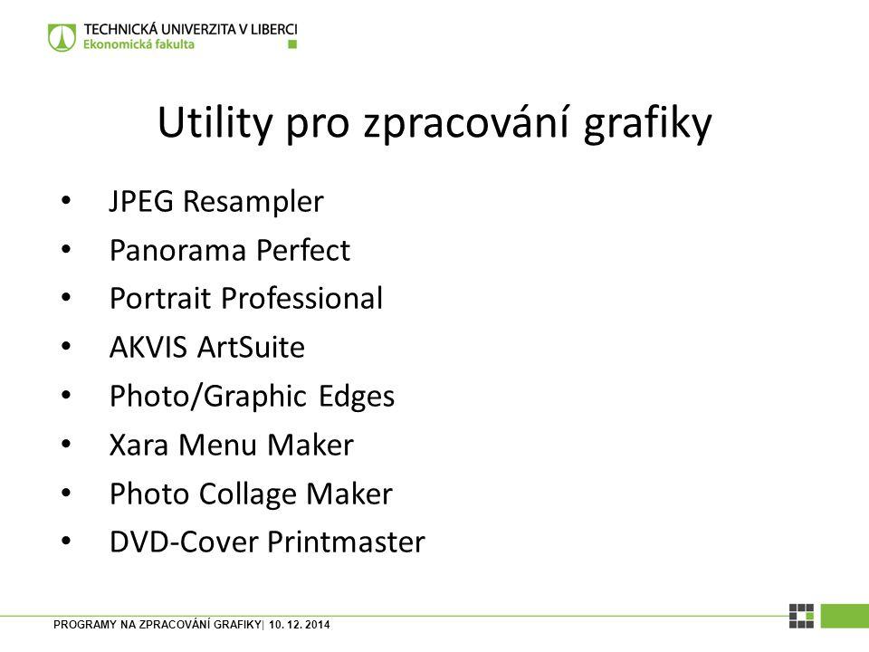 Utility pro zpracování grafiky