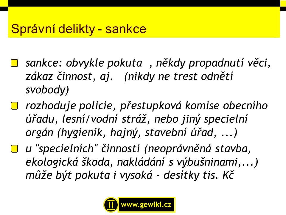 Správní delikty - sankce