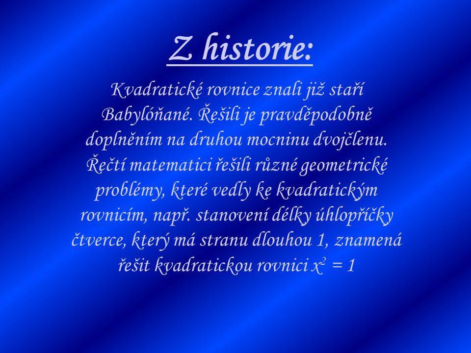 Z historie: