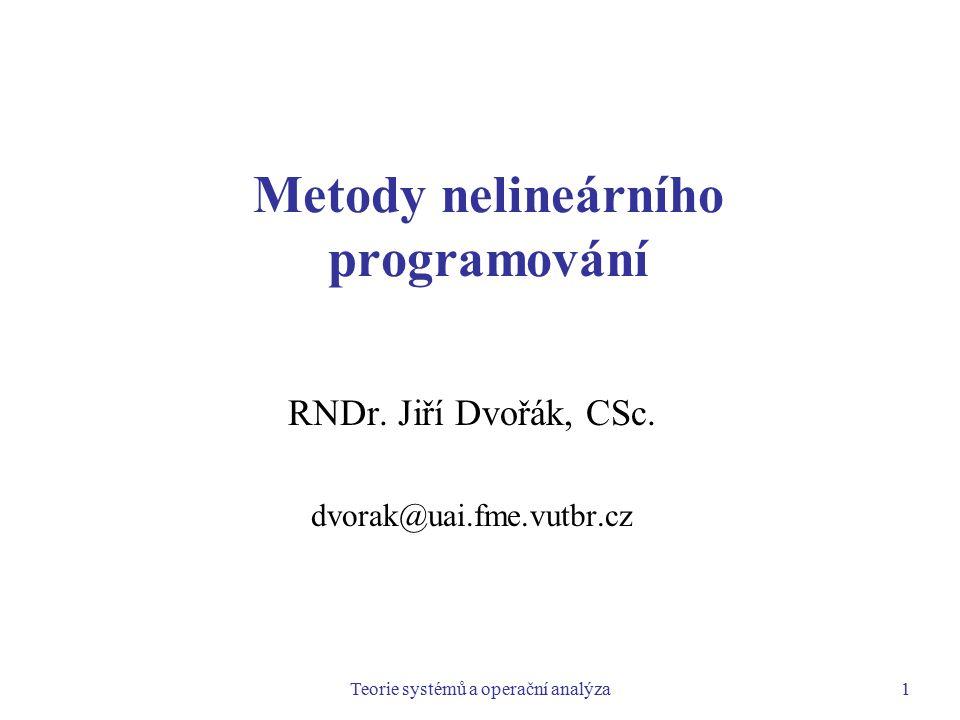Metody nelineárního programování