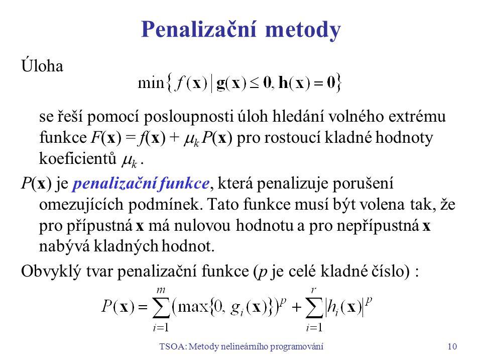 TSOA: Metody nelineárního programování