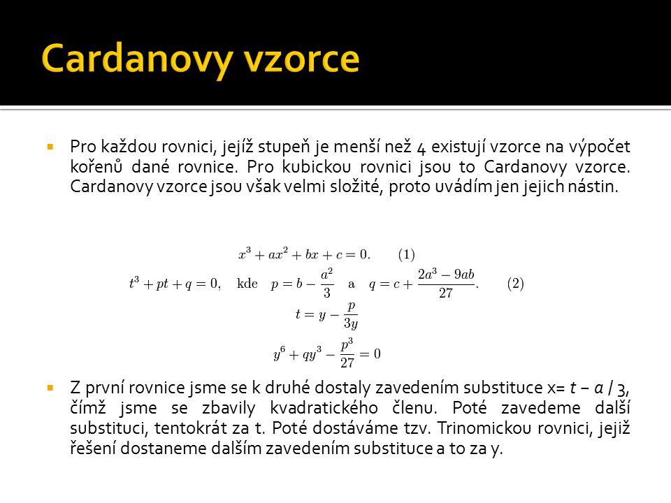 Cardanovy vzorce