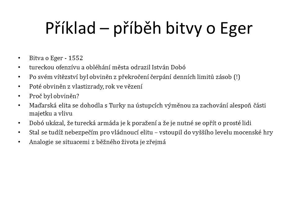 Příklad – příběh bitvy o Eger