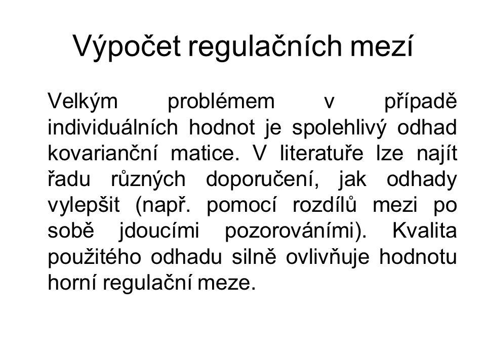 Výpočet regulačních mezí