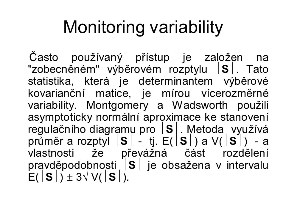 Monitoring variability