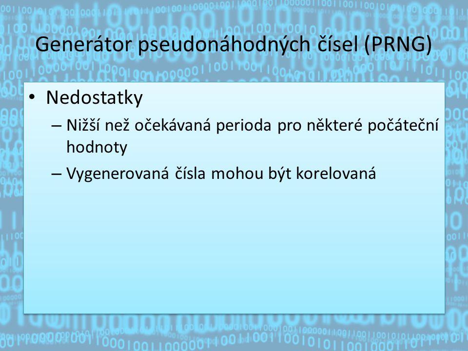 Generátor pseudonáhodných čísel (PRNG)