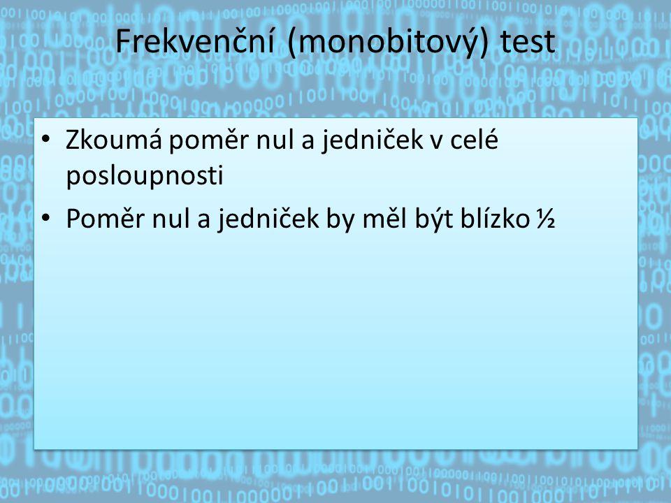 Frekvenční (monobitový) test