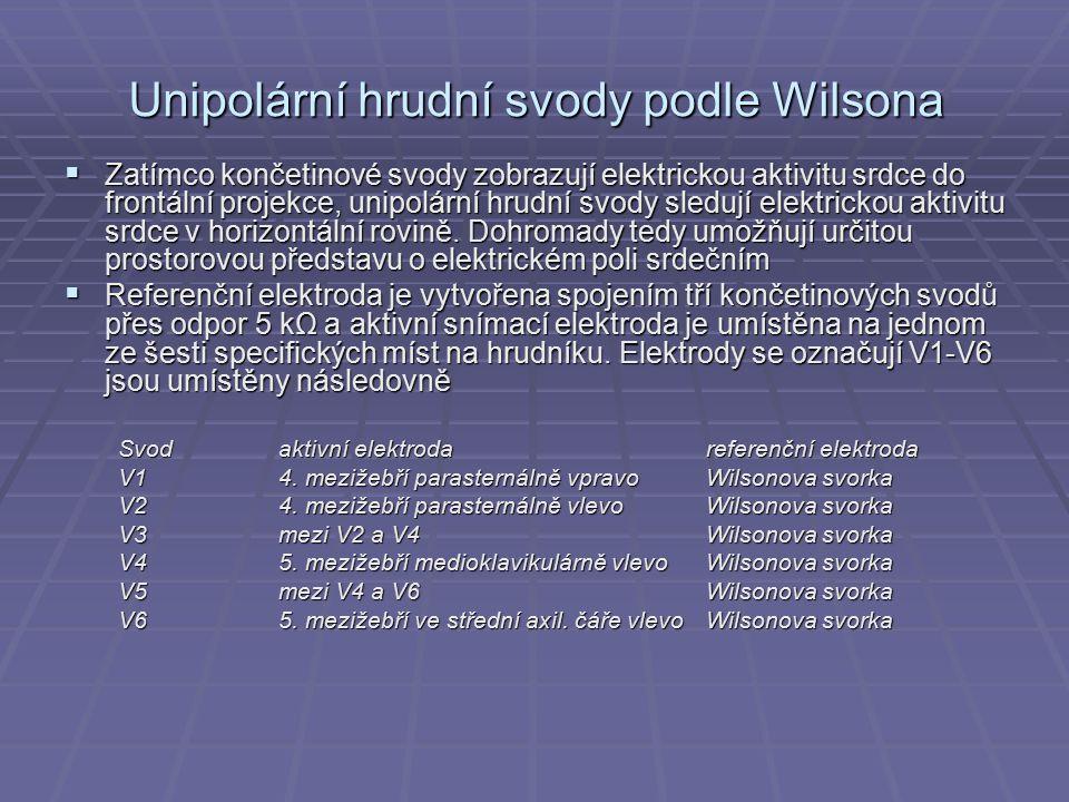 Unipolární hrudní svody podle Wilsona