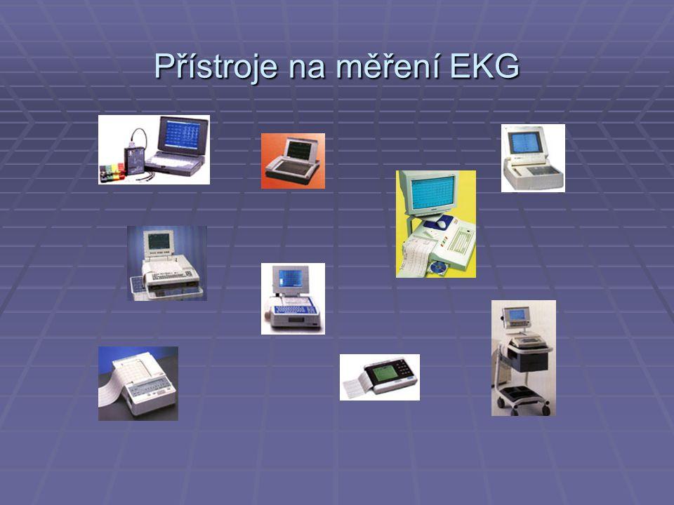 Přístroje na měření EKG