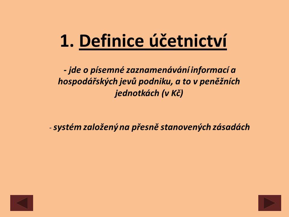 - systém založený na přesně stanovených zásadách