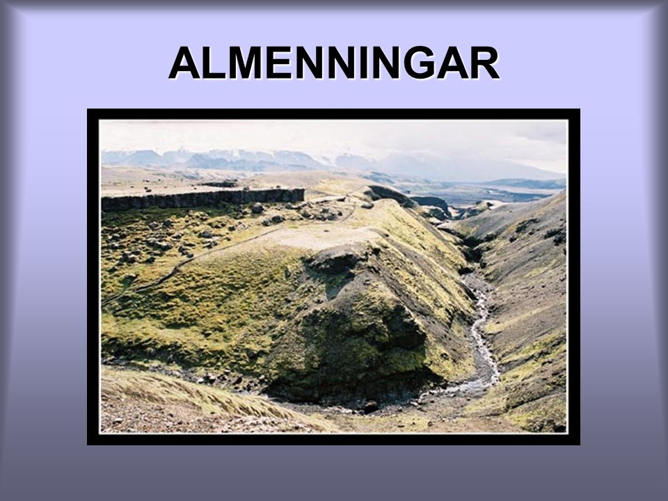 ALMENNINGAR