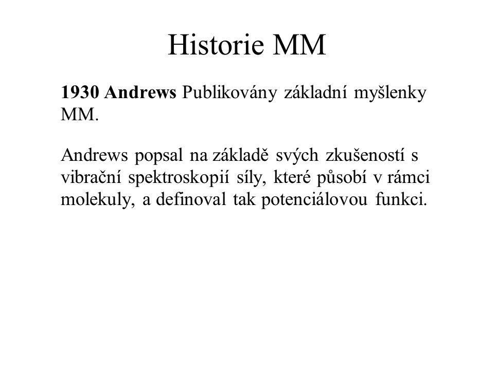 Historie MM 1930 Andrews Publikovány základní myšlenky MM.