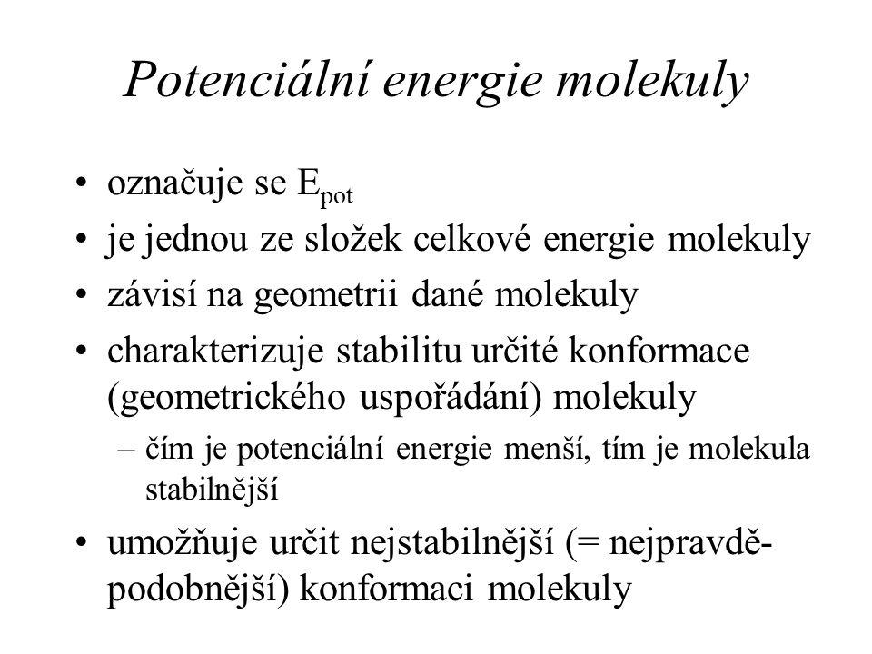 Potenciální energie molekuly