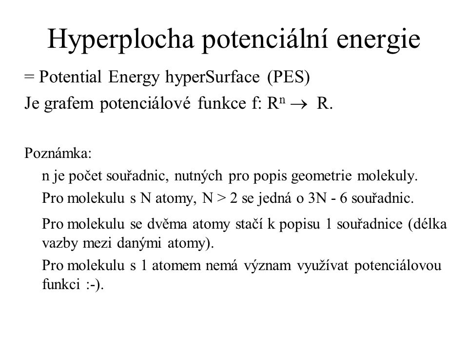 Hyperplocha potenciální energie