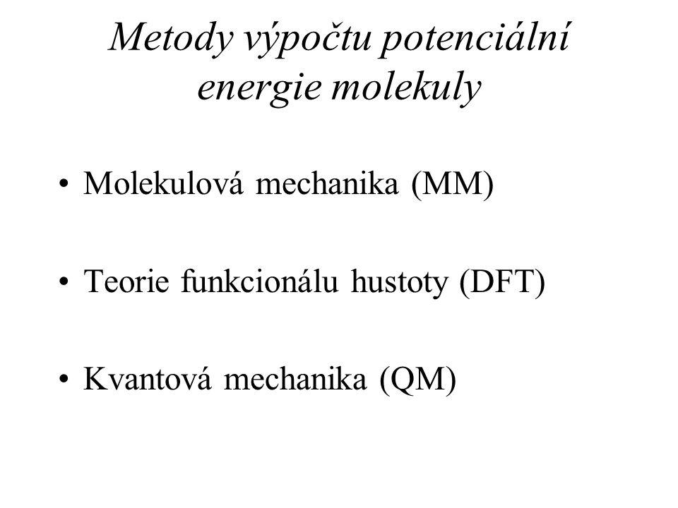 Metody výpočtu potenciální energie molekuly