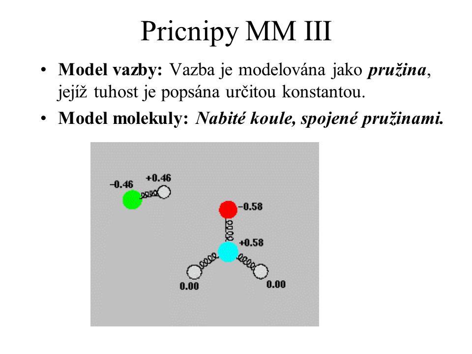 Pricnipy MM III Model vazby: Vazba je modelována jako pružina, jejíž tuhost je popsána určitou konstantou.
