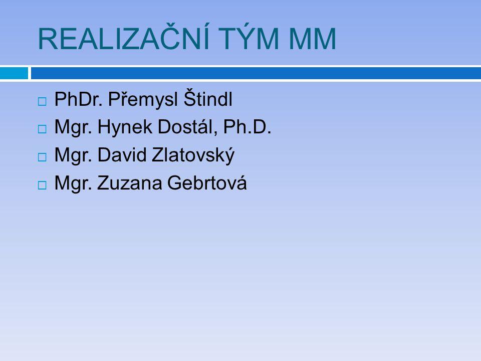 REALIZAČNÍ TÝM MM PhDr. Přemysl Štindl Mgr. Hynek Dostál, Ph.D.