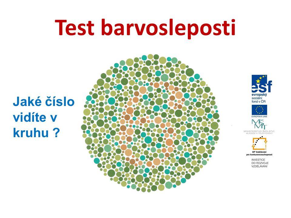 Test barvosleposti Jaké číslo vidíte v kruhu