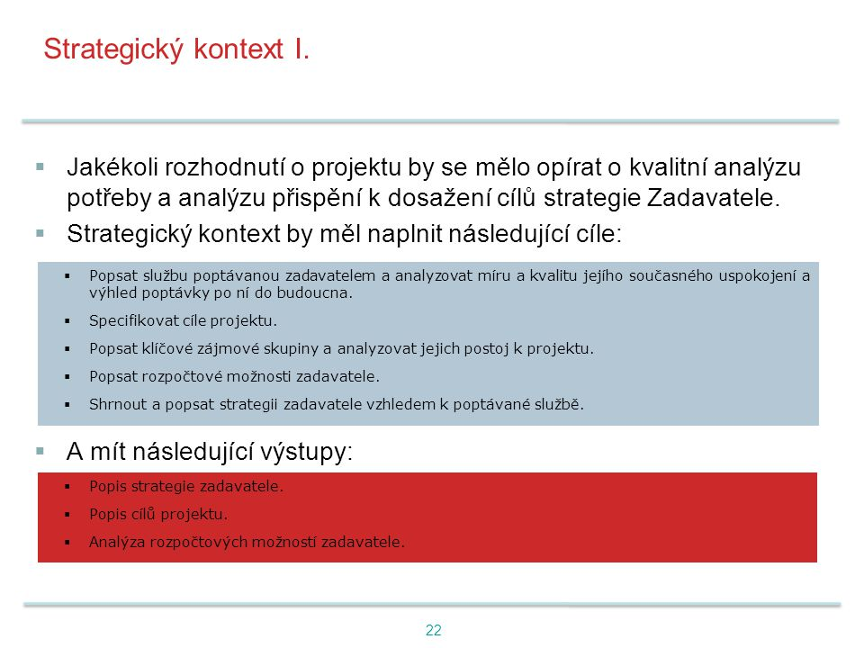 Strategický kontext I.