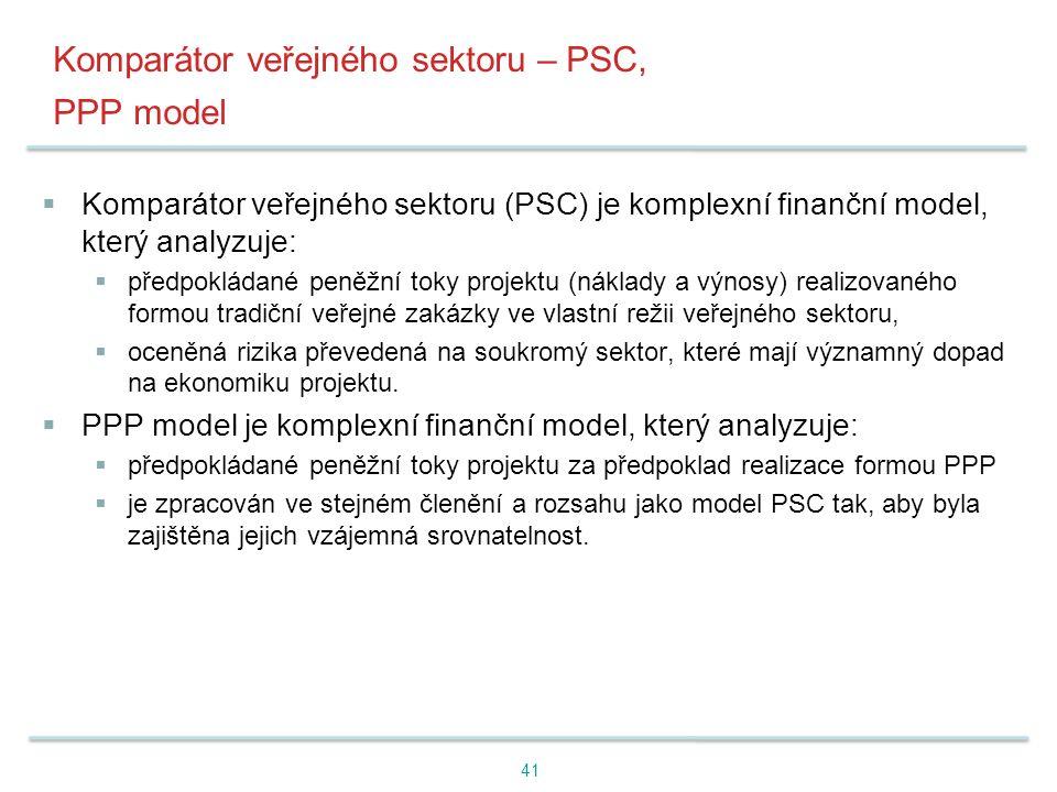 Komparátor veřejného sektoru – PSC, PPP model