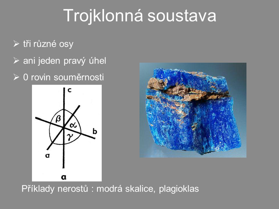 Trojklonná soustava tři různé osy ani jeden pravý úhel
