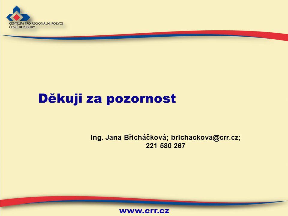 Ing. Jana Břicháčková; brichackova@crr.cz; 221 580 267