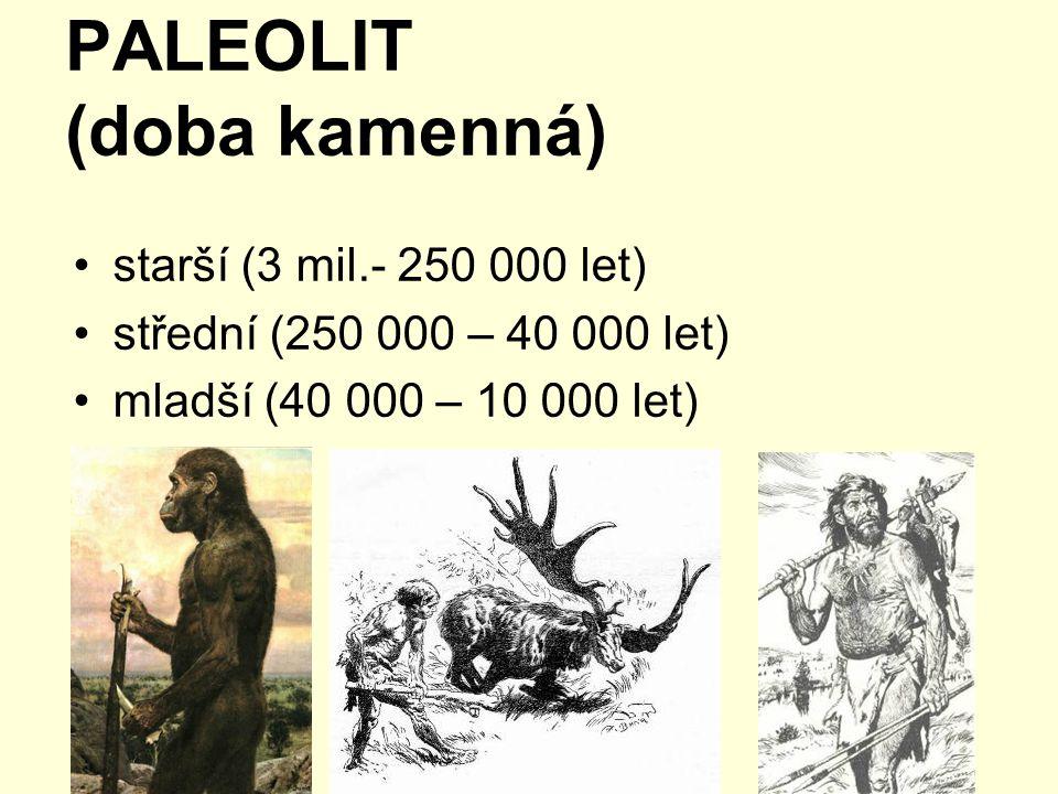 PALEOLIT (doba kamenná)