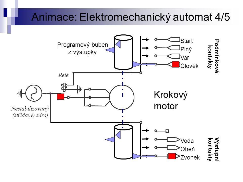 Animace: Elektromechanický automat 4/5