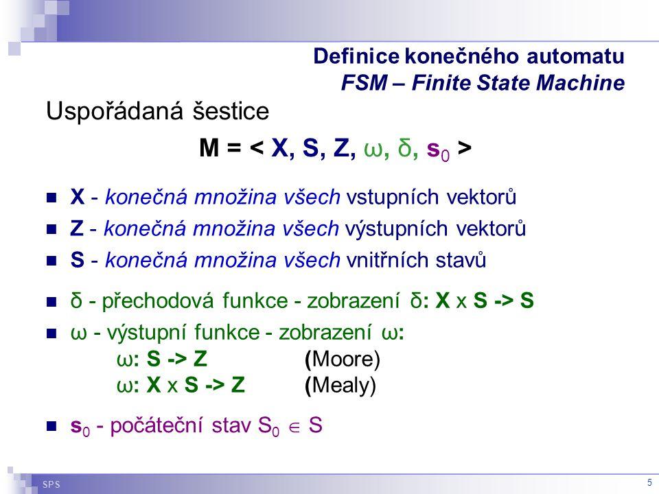 Definice konečného automatu FSM – Finite State Machine