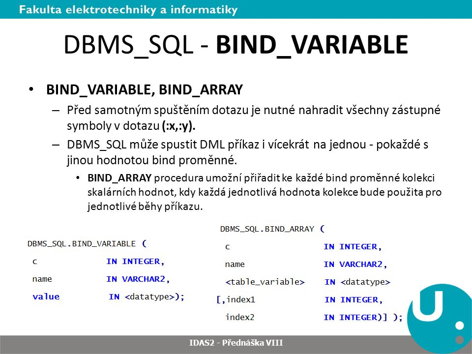 DBMS_SQL - BIND_VARIABLE