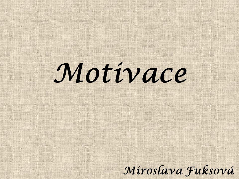 Motivace Miroslava Fuksová