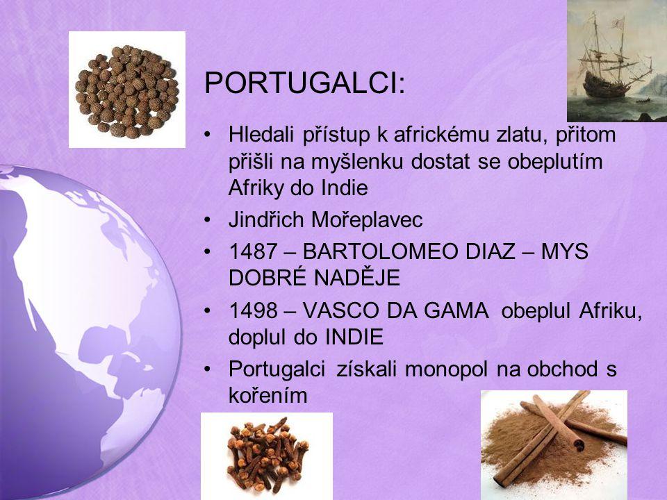 PORTUGALCI: Hledali přístup k africkému zlatu, přitom přišli na myšlenku dostat se obeplutím Afriky do Indie.