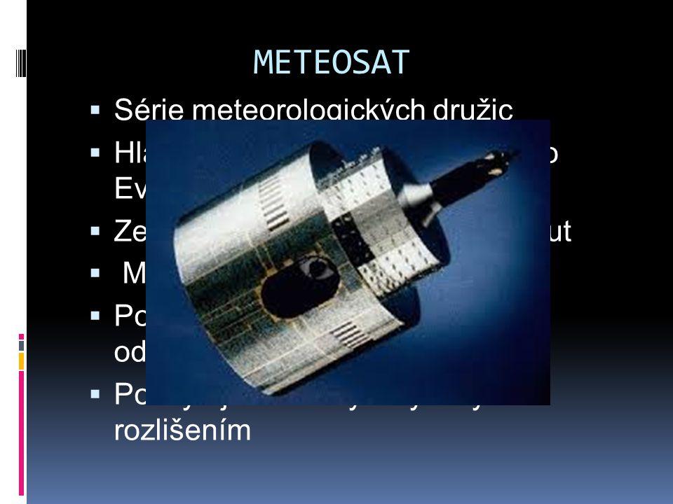 METEOSAT Série meteorologických družic