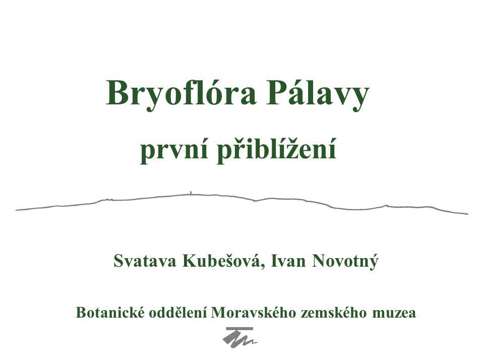 Bryoflóra Pálavy první přiblížení Svatava Kubešová, Ivan Novotný
