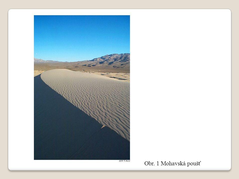 Obr. 1 Mohavská poušť