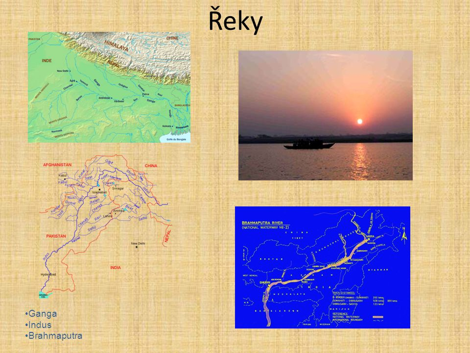 Řeky Ganga Indus Brahmaputra