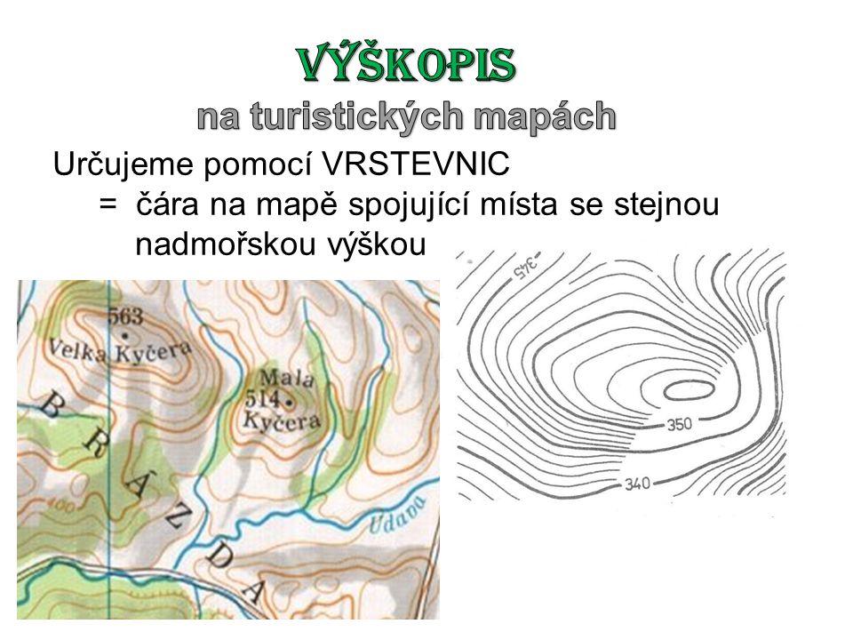 na turistických mapách