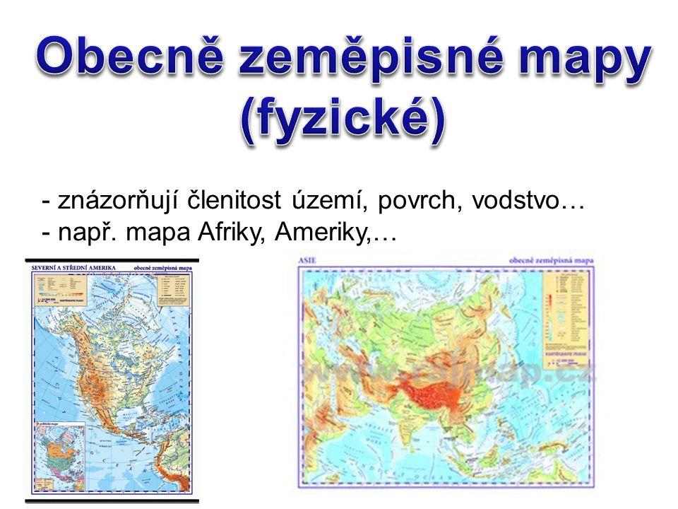 Obecně zeměpisné mapy (fyzické)
