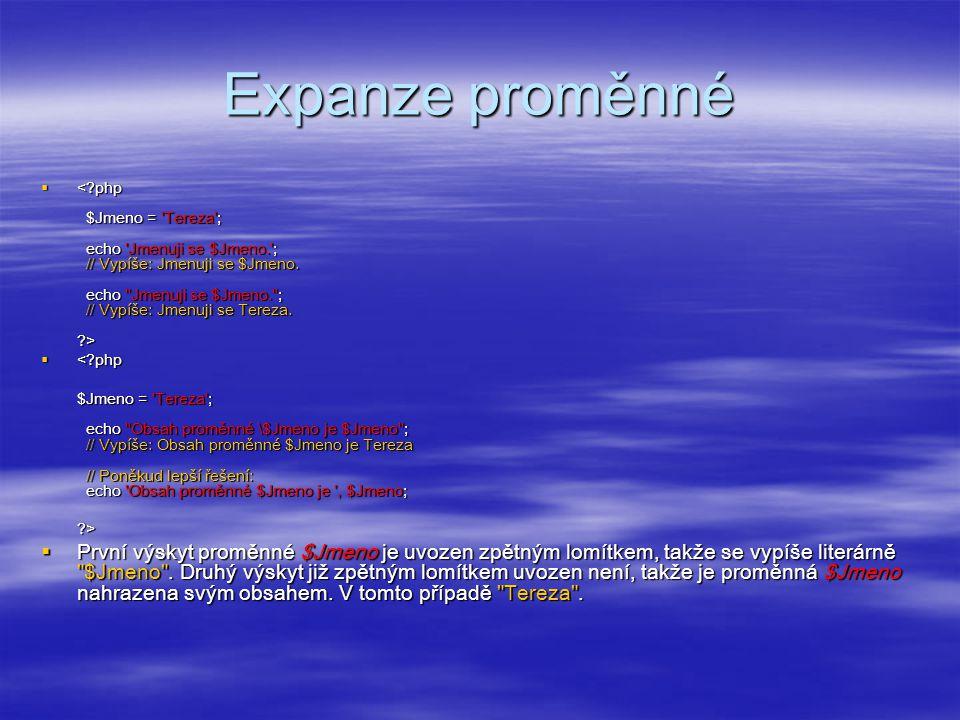 Expanze proměnné