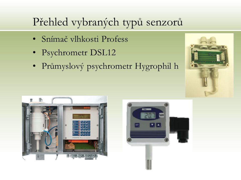 Přehled vybraných typů senzorů