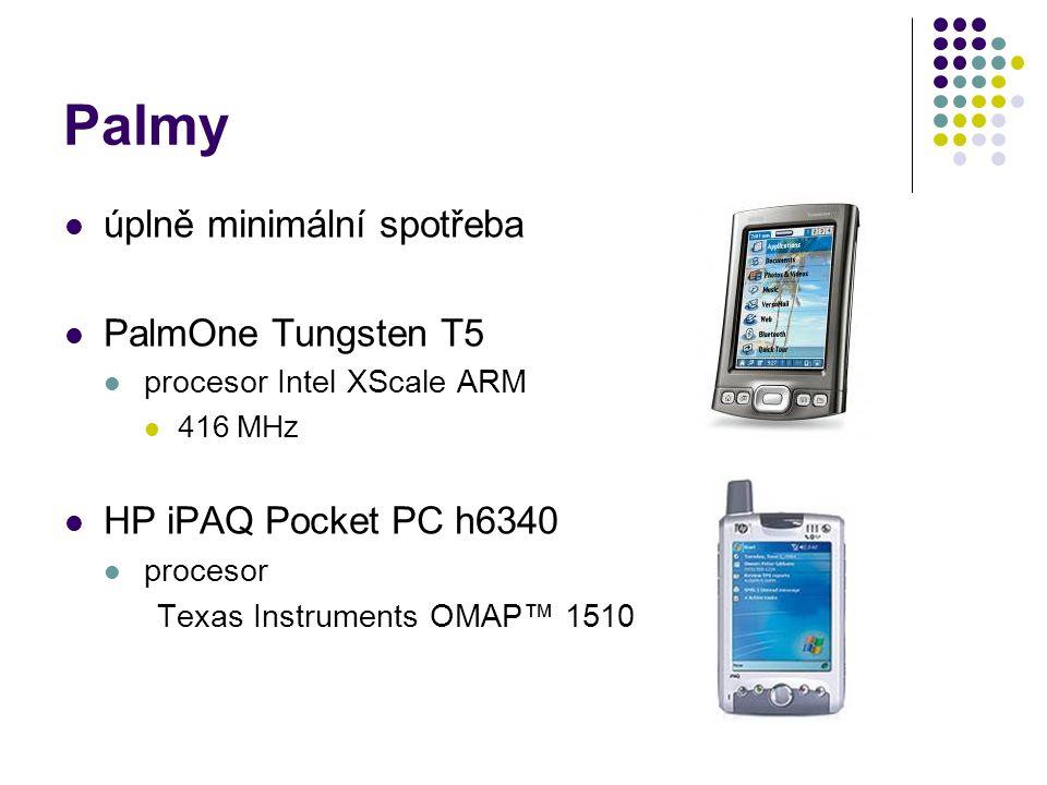 Palmy úplně minimální spotřeba PalmOne Tungsten T5