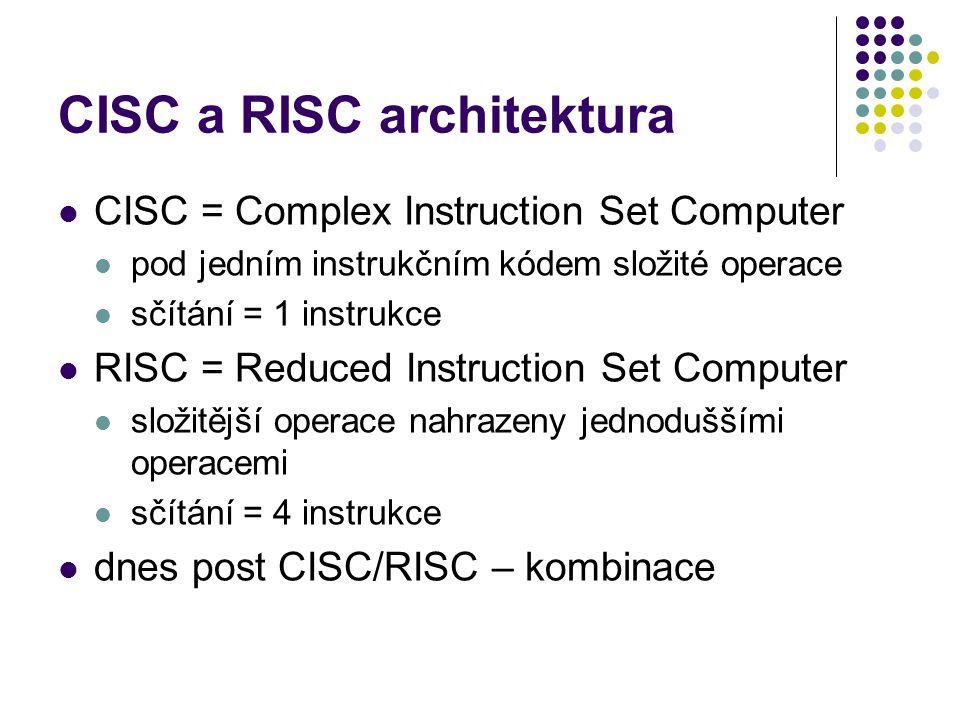 CISC a RISC architektura